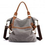Retro Großkapazität Commuter Casual Multifunktions-Umhängetasche für Damen Canvas Handtaschen
