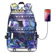 Mode Teen einzigartige bunte unregelmäßige Form große Kapazität wasserdichten jungen Studenten Rucksack