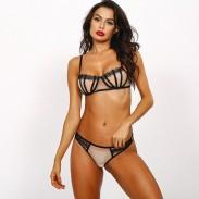 Sexy BH Set Spitze Unterwäsche Gittergewebe Nähen von Damenwäsche