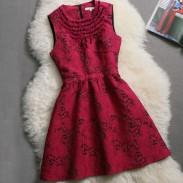 Elegantes wulstiges Ärmelloses Ein-Linie Kleid