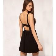 Europäisch Stil Reizvolle Nightclub Mode Halfter Kleid