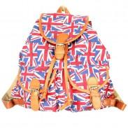 Volks Stil britischer Flagge gedruckte Rucksack