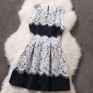Raum Baumwolle Jointed Spitze Ärmelloses Kleid