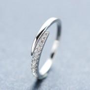 Gold überzogene Rhinestone-Silber-Ring Öffnungs