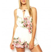 Sommer Neu Sexy Süß Floral Overall Shorts