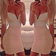 Nachtclub mit tiefem V- figurbetontenPartei Kleid