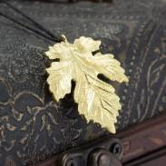 925 Ahorn Blatt Silber Anhänger Halskette