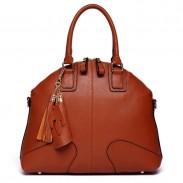 Mode Braun Shells Leder-Troddel-Handtaschen