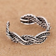 925 Sterling Silber Hand Woven Braid Öffnungs Ring