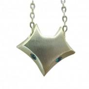 Persönlichkeit Fuchs Muster Silber-Anhänger-Halskette