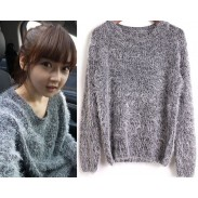 New Fashion Pure Color Mohair Sweater & Strickjacke