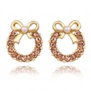 Mode Perle Bogen Strass Ohrringe & Ohr