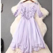 Einzigartige handgefertigte Perlen Stickerei Silm Kleid Party Kleid