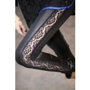 Mode Spitze Stitching Leder Hose & Gamaschen