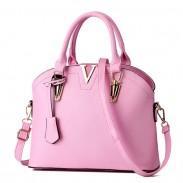 Elegante Frauen Einfache Schulter Taschen Leder Messenger Bag Tote Geldbörse Shell Handtasche