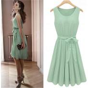 Neue Mode Tadellose grüne Fledermaus Ärmel Kleid