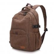 Retro einfache Schultasche Camping dicke Leinwand großen Rucksack Männer Reiserucksack