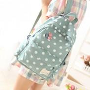 Frische Tupfen Segeltuch Rucksack oder Büchertasche