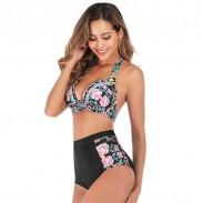 Heiß sexy Blume Sling Sommer Badeanzug Kirsche Hohe Taille Bikini
