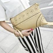 Mode Geprägte Nieten Strass Unterarmtasche
