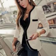 Schlank falsche Taschen-Langarm-Jacken-Mantel