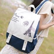 Hochschule Stil Eiffelturm-Tasche Schultasche Rucksack