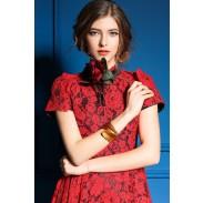 Reizvoller Spitze rückenfreie aristokratischen Stil Kleid