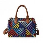 Flippige Mode gemischte Farben-GeometrieSegeltuch Handtasche Schultertasche