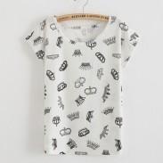 Kaiserliche Krone Gedruckt T-Shirt