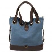 Neue Einfache Lässige Feste Große MultifunktionsLeinentrage Handtasche Schultertasche