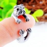 Hund Legierung Tiere Öffnungs-Ring