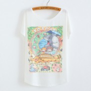 Mein Nachbar Totoro Tier gedruckt Baumwolle T-Shirt