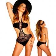 Sexy Integratedstyle Bademode Gestrickt Bikini Beachwear