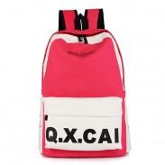 Mode Einfache Segeltuch-Rucksack-Schule-Beutel