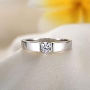 Österreich Strass Simple Silver Polier Mannes Ring
