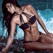 Schwarze Spitze-Bikini-Strand-Badeanzüge Bademode