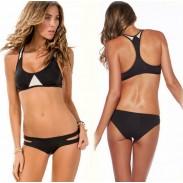 Mode Top Bikini Contraster Farbe Dreieck Badeanzüge Bikini Set