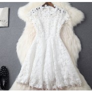 Hand-gesetztes Diamant-upscale hohles lösliches Blumen-dünnes Kleid-Partei-Kleid