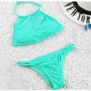 Mintgrün Badeanzug Sexy aushöhlen Bikini Bademode Badeanzug