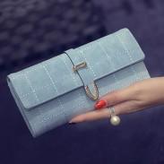 Retro Scrub Pfeil bestickt lange Frauen Unterarmtasche Brieftasche Geldbörse
