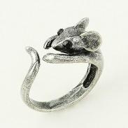 Niedlich Maus Öffnung Tier Wrap Ring