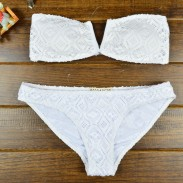 Mode Spitze Blume aushöhlen Bikini