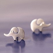 chöne kreative Elefant Silber Tier Ohrstecker