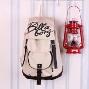 Klassische Mode Plaid Leinwand Rucksack