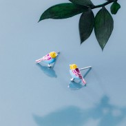 Personalisierte Vogel Ohrringe Ohrstecker Kolibri Tier Ohrringe Vogelschmuck für Mädchen