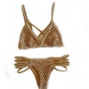 Mode handgewebte Mesh Badeanzug Bademode Sexy Bikini Badeanzug