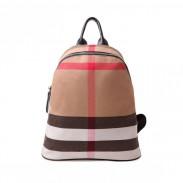 Einfache Art Plaid Gestreifte Segeltuch Frauen Rucksack Reisetaschen