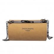 Retro kleine Zylindertasche mattierte Umhängetasche Trommelkette Umhängetasche