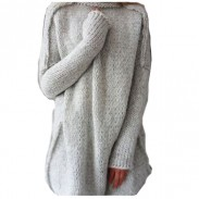 Fashion Hollow Out Anti Knitting Large Size Sweater Turtleneck Sweater