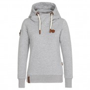 Reine Farbe Herbst Winter Hoodie Outfit Mädchen Sport Kaschmir Top Frauen Pullover